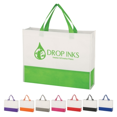 Custom Printed Prism Non-Woven Tote Bags
