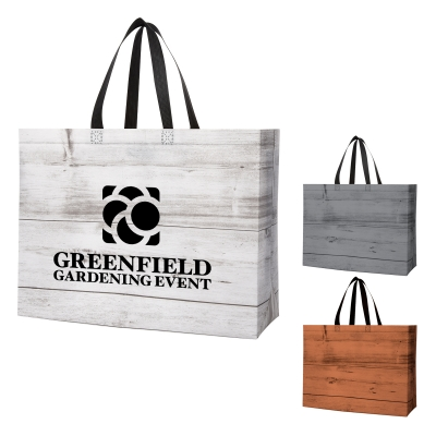 Custom Printed Chalet Laminated Non-Woven Tote Bags