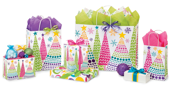 Bright Trees Paper Shopping Bags