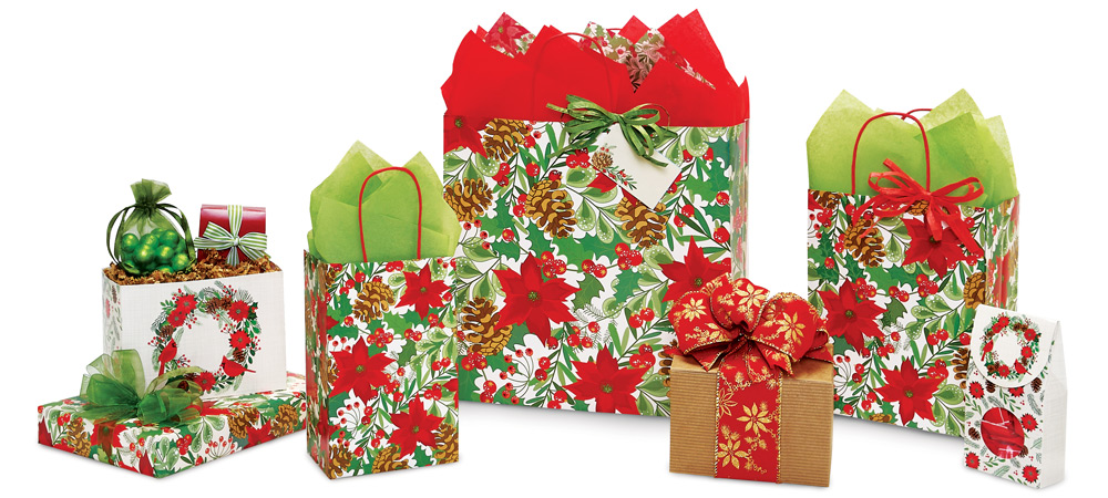 Christmas Botanicals  Paper Shopping Bags