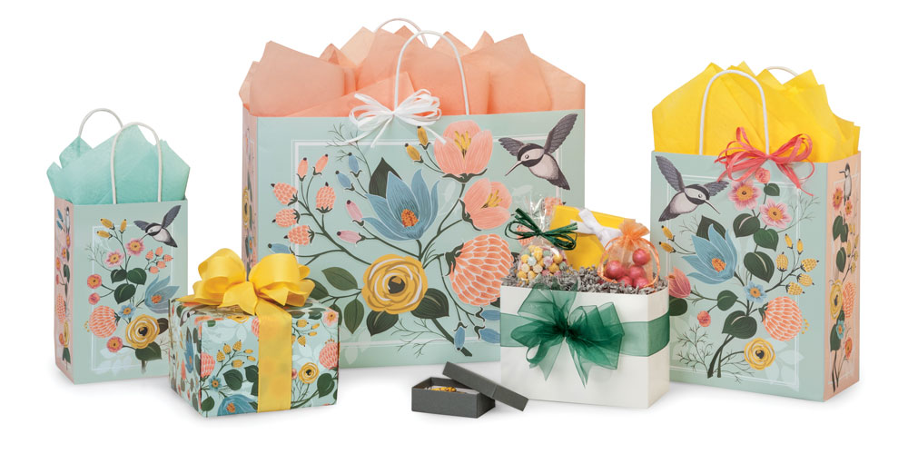 Hummingbird Floral Packaging Collection