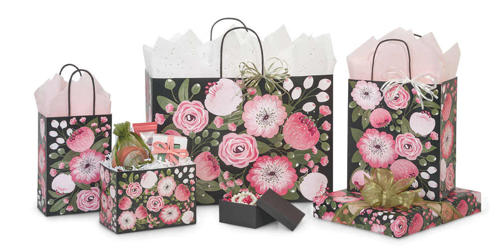 Moonlit Blooms Shopping Bags