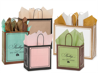 Hot Stamp Your Duets Paper Shopping Bags