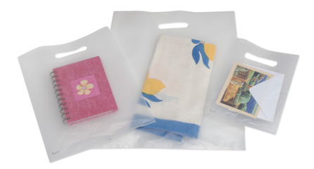 Custom Print Frosted Plastic Merchandise Bags