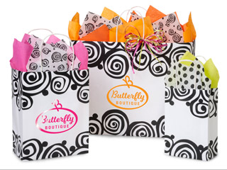 Hot Stamp Your Bohemian Swirls Paper Shopping Bags
