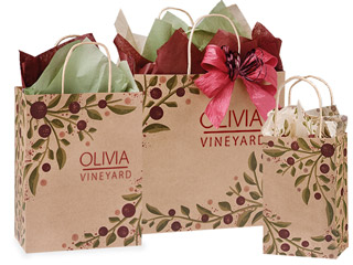 Hot Stamp Your Tuscan Paper Shopping Bags