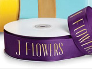 Custom Printed Wired Fabric Florist Ribbon