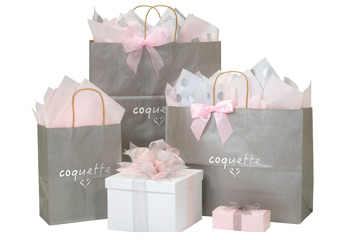Hot Stamp Your Metallic Kraft Color Shopping Bags