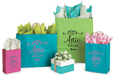 Hot Stamp Your Kraft Color Shopping Bags