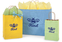 Hot Stamp Your Shadow Stripe Kraft Color Bags