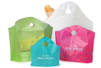Custom Print Wave Top Plastic Bags