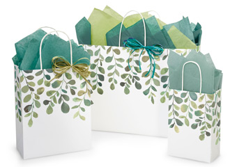 Hot Stamp Your Watercolor Greenery Paper Shopping Bags