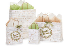 Hot Stamp Your Distressed Wood Paper Shopping Bags