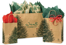 Hot Stamp Your Evergreen Christmas Paper Shopping Bags