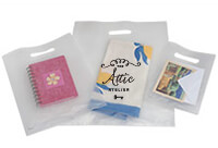 Custom Print Your Frosted Plastic Merchandise Bags