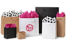 Digitally Print Your White Kraft Paper Shopping Bags
