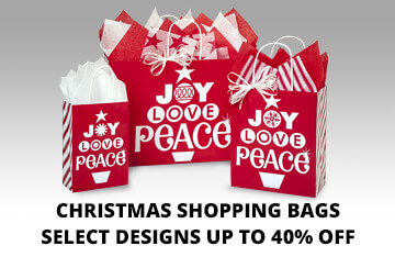 Christmas Paper Shopping Bags on Special!