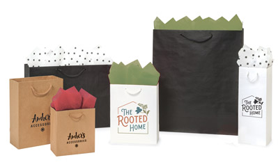 Digitally Print Your Kraft Paper Gift Bags