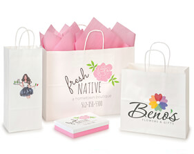 Digitally Printed Paper Shopping Bags