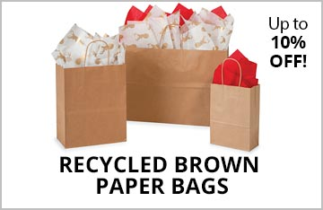 Recycled Kraft Paper Shopping Bags