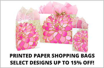 Printed Paper Shopping Bags on Special!