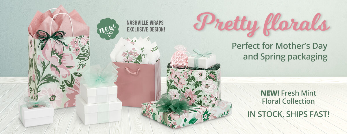 Fresh Mint Floral Collection from Nashville Wraps