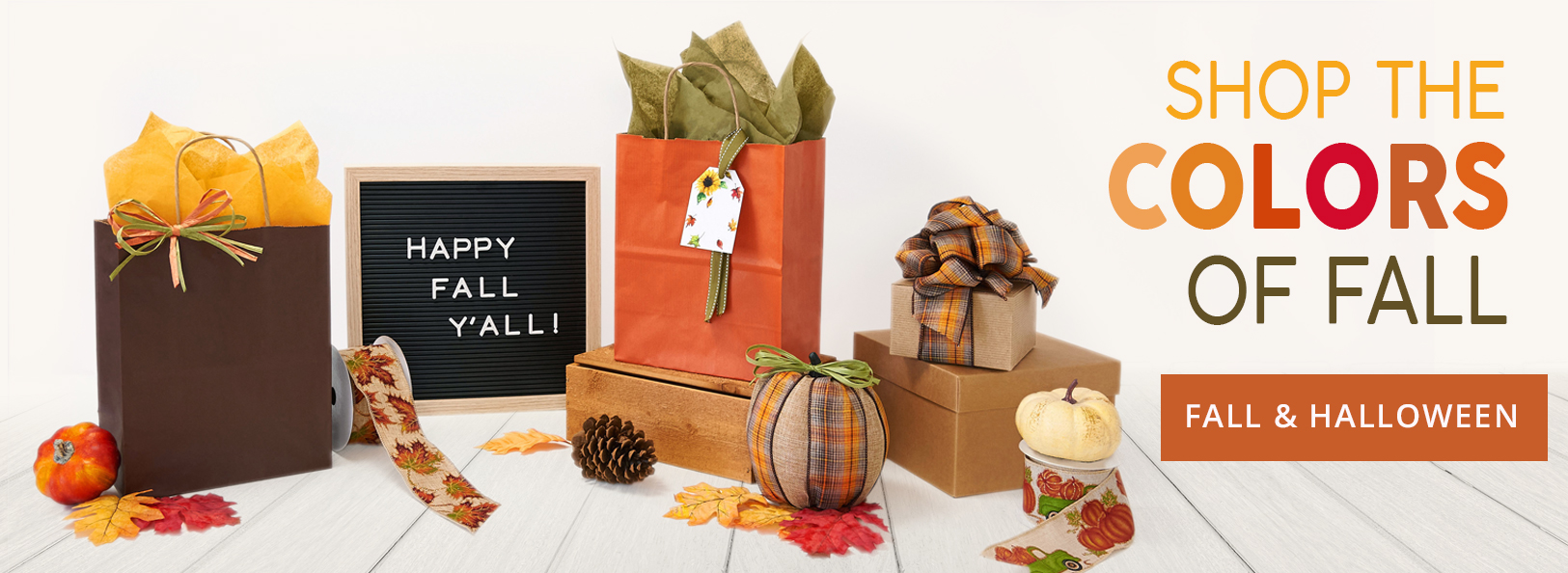Celebrate the colors of Fall with Fall and Halloween packaging