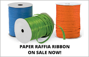Paper Raffia Ribbon on Special!
