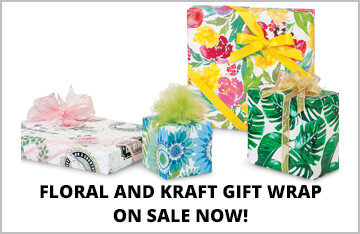 Floral & Kraft Gift Wrap on Special!
