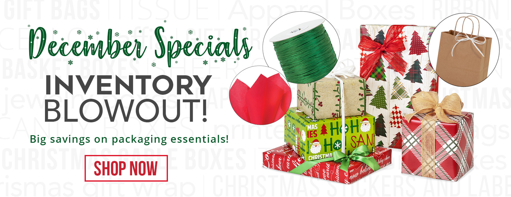 December Inventory Blowout from Nashville Wraps