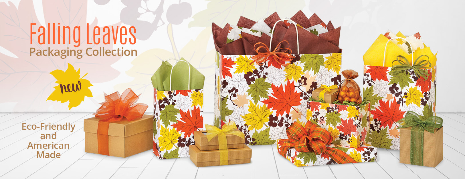 Falling Leaves Packaging Collection from Nashville Wraps