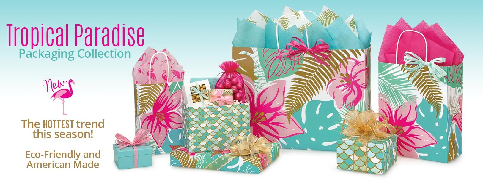 Tropical Paradise Paper Shopping Bags