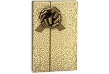 Golden Cheetah Print Gift Wrap