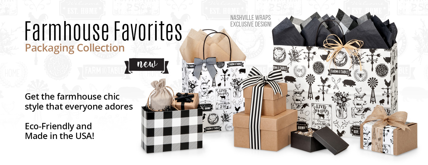 Farmhouse Favorites Shopping Bags Collection from Nashville Wraps
