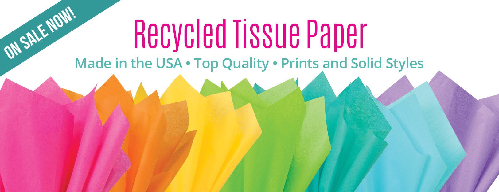 Tissue Paper in White, Colors & Recycled Kraft from Nashville Wraps