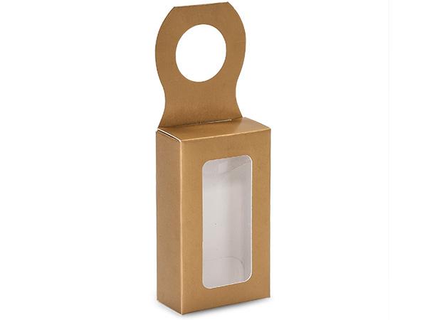 "Metallic Gold Wine Bottle Truffle Favor Box, 2.25x1.25x4"", 6 Pack"