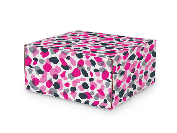 """Jungle Spots Tab Lock Mailer Boxes, 10x10x5"""", 25 Pack"""