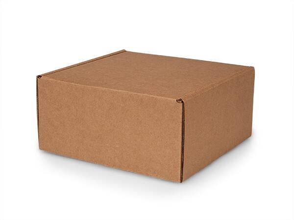"Brown Kraft Tab Lock Mailer Boxes, 10x10x5"", 25 Pack"