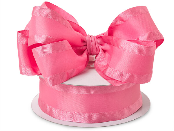 Pink Ruffle Satin Ribbon