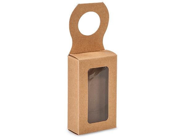 """Kraft Pinstripe Wine Bottle Truffle Favor Box, 2.25x1.25x4"""", 6 Pack"""