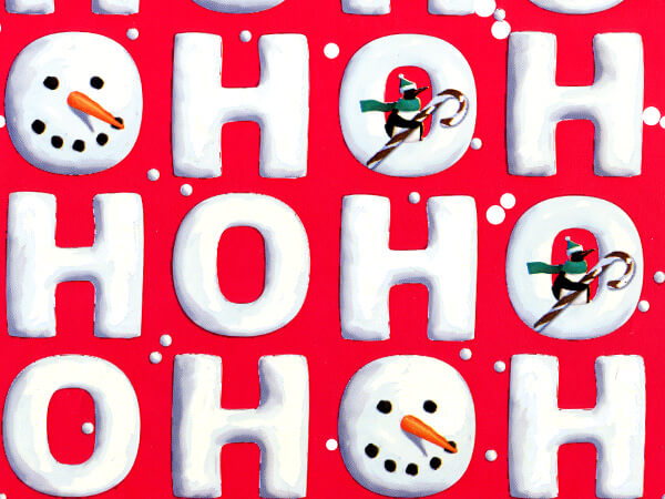 "Ho Ho Snowman Wrapping Paper 24""x85' Cutter Roll"