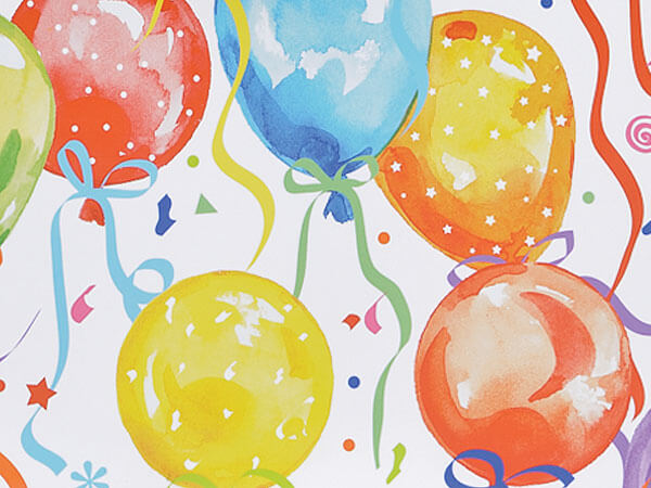 "Balloons & Ribbons 24""x85' Roll Gift Wrap"