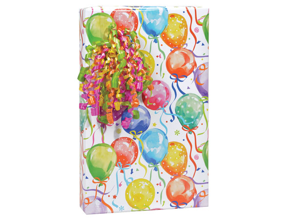 "Balloons & Ribbons  24""x417' Gift Wrap Counter Roll"