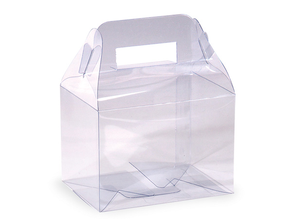 "Clear Gable Favor Box, 4x3x2.75"", 12 Pack"