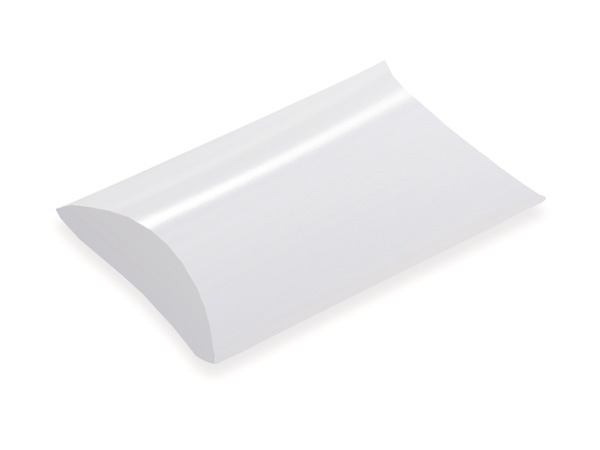 """White Pillow Favor Boxes, Small 2.75x2.75x1"""", 12 Pack"""
