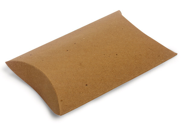 "Kraft Pillow Favor Boxes, Large 6.5x5.5x1.5"", 12 Pack"