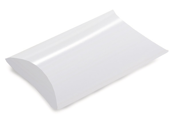 "White Pillow Favor Boxes, Large 6.5x5.5x1.5"", 12 Pack"
