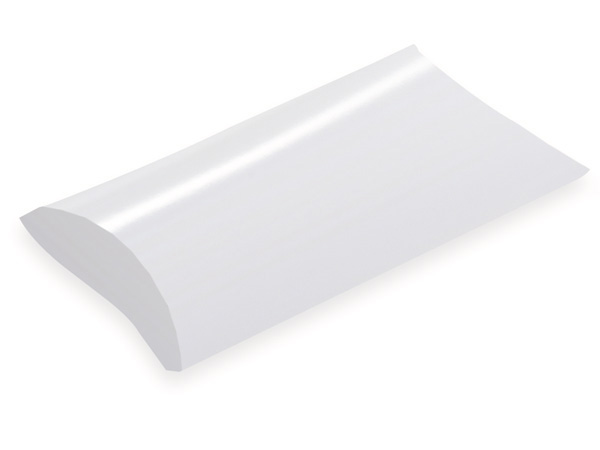 "White Pillow Favor Boxes, Medium 5x4x1.5"", 12 Pack"