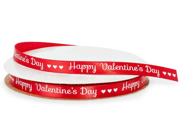 """Happy Valentines Day Ribbon, 3/8"""" x 10 yards"""