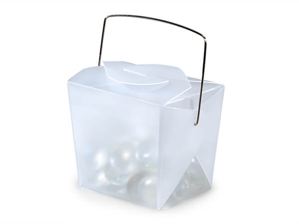 "White Take Out Favor Boxes, Small 2.75x2x2.5"", 12 Pack"